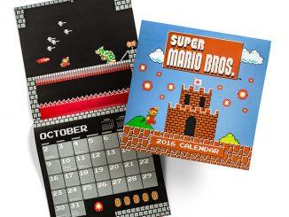 Super Mario Brothers Classic 2016 Wall Calendar