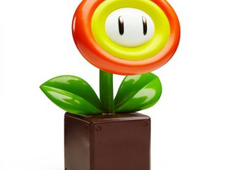 Super Mario Fire Flower Garden Statue
