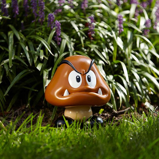 Super Mario Goomba Garden Statue