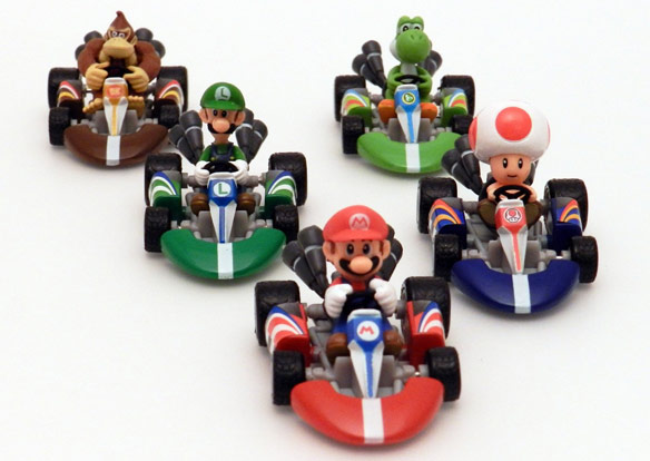 Super Mario Mario Kart Wii Die Cast Vehicle 5 Pack