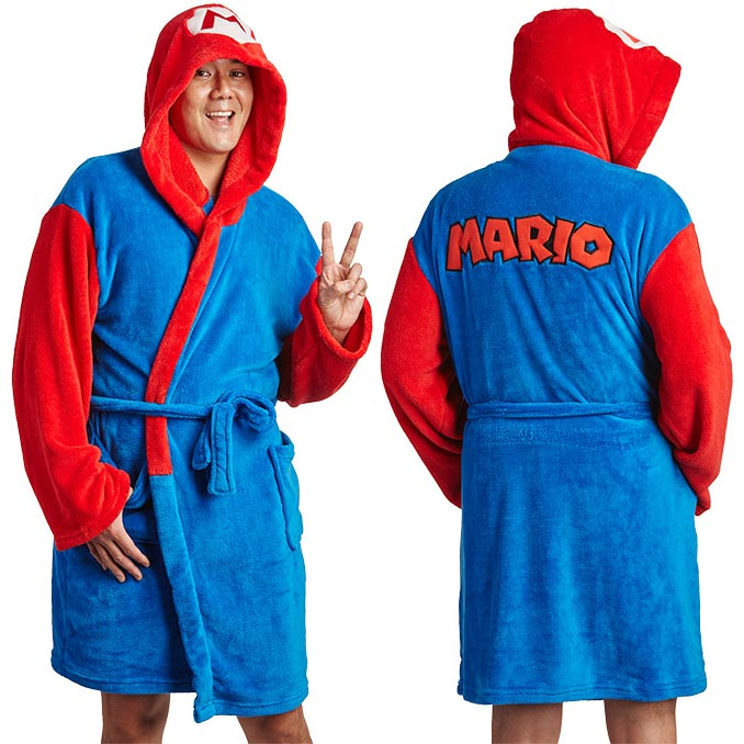 Super Mario Mario Hooded Robe