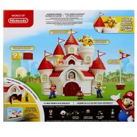Super Mario Mushroom Kingdom Castle Deluxe Playset Box Back