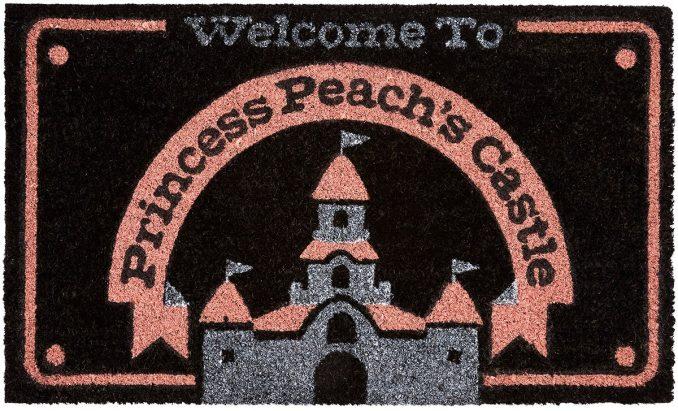Super Mario Princess Peach Castle Doormat