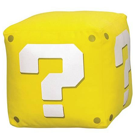 Super Mario Question Mark Sound Plush