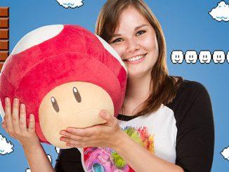 Super Mario Retro Mushroom 14in Plush