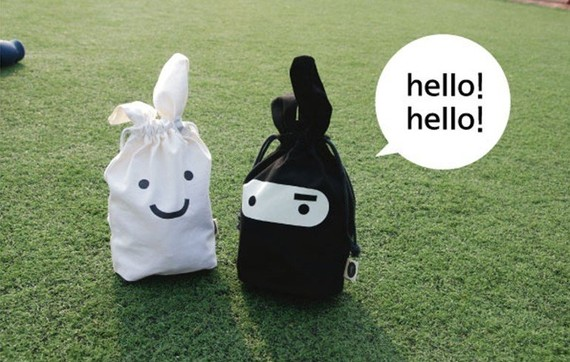 Super Ninja and White Rabbit Lunch Bag