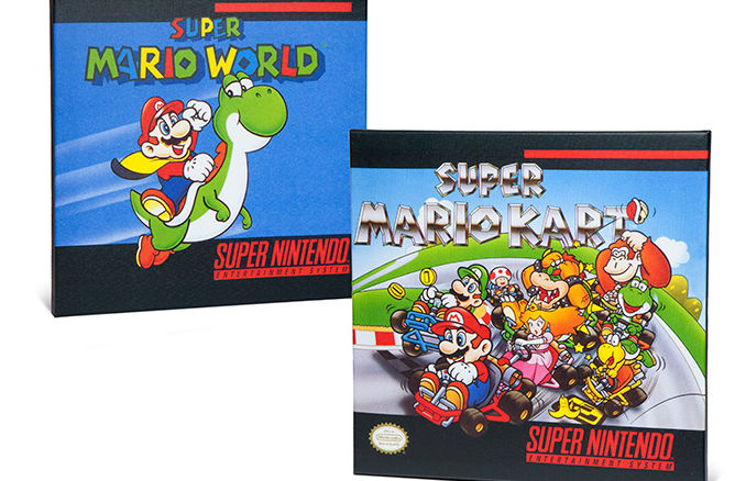 Super Nintendo Box Art Canvas 2pk