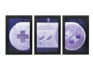 Super Nintendo Controller Wall Art Set