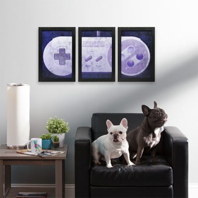 Super Nintendo Controller Wall Art Set