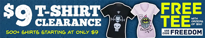 SuperHeroStuff Free T-Shirt Coupon Code