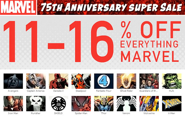 SuperHeroStuff Marvel Sale
