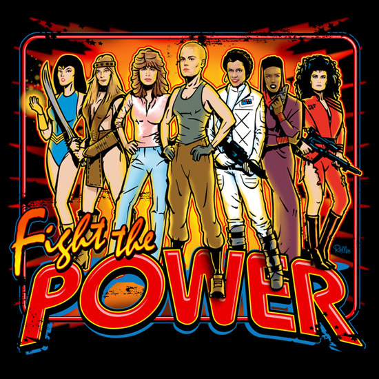 SuperWomen of 80s Fight The Power Shirt