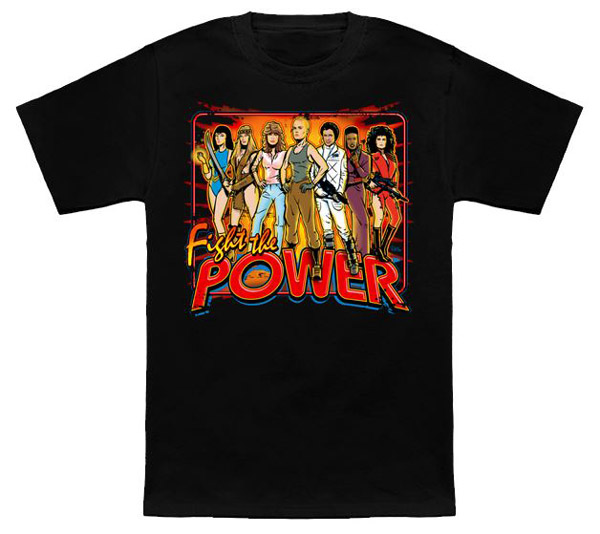 SuperWomen of 80s Fight The Power T-Shirt