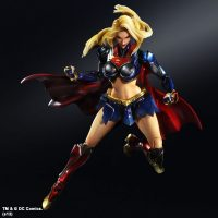 Supergirl DC Comics Play Arts Kai Variant Action Figure Angry Face