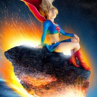 Supergirl Re Entry Steel Poster