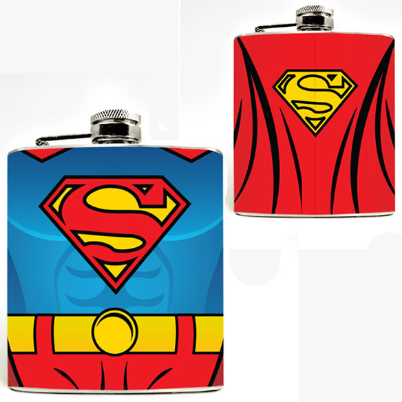Superhero Hip Flasks - Superman