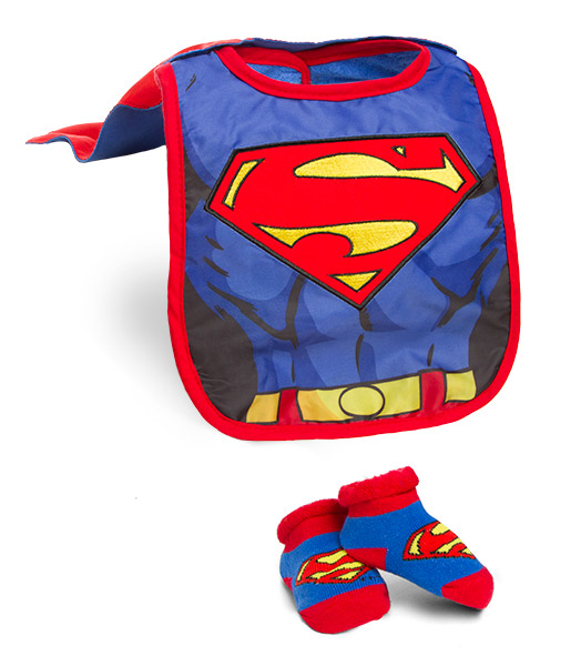 Superhero Infant Bib and Booties Sets