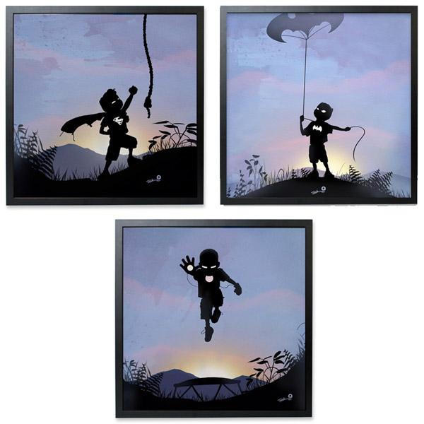 Superhero Kid Prints