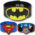 Superhero Molded PVC Wristbands