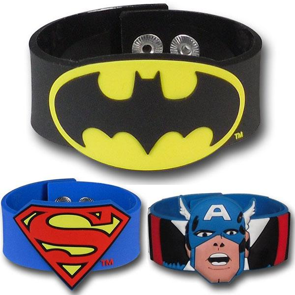 Superhero Molded PVC Wristbands