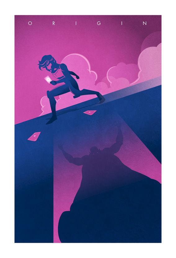Superhero Origin Series Posters