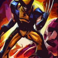 Superhero Polygon Art - Wolverine X-Men Days of Future Past