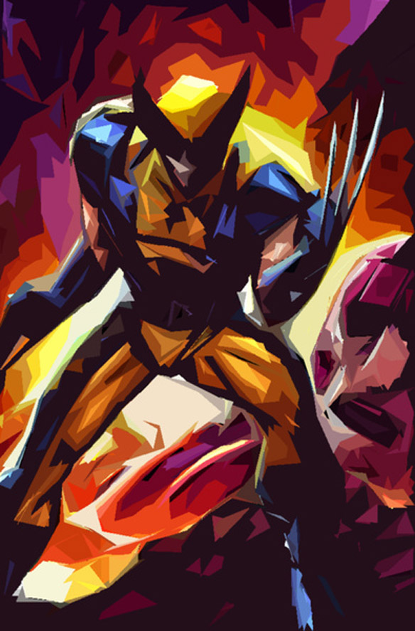 Superhero Polygon Art  Wolverine XMen Days of Future Past
