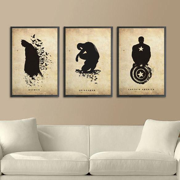 Superhero Silhouette Posters