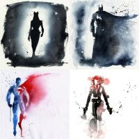 Superhero Watercolor Art