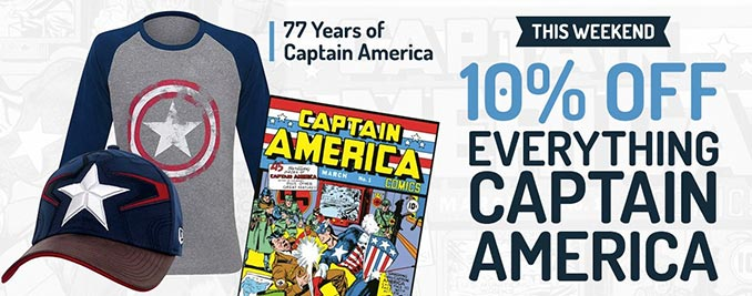 SuperHeroStuff Captain America Sale