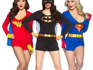 Superheroine Ladies Caped Rompers