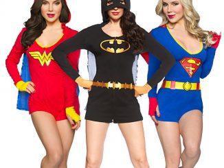 Superheroine Ladies Caped Rompers
