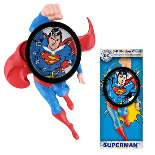 Superman 14-Inch Motion Clock