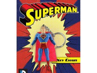 Superman 3-Inch Bendable Figure Key Chain