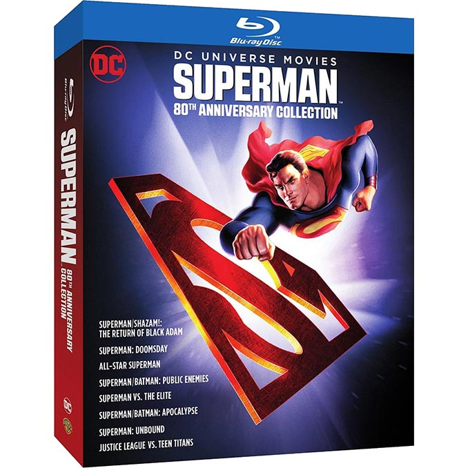 Superman 80th Anniversary DC 8 Film Collection Blu ray