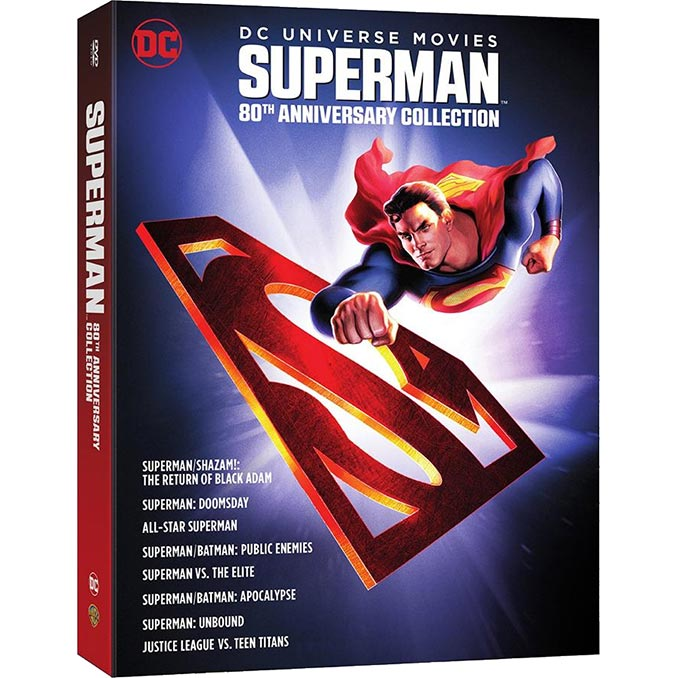 Superman 80th Anniversary DC 8 Film Collection DVD