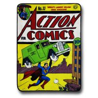 Superman Action Comics Fleece Blanket