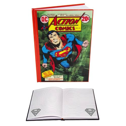 Superman Action Comics Issue 419 Lenticular Notebook