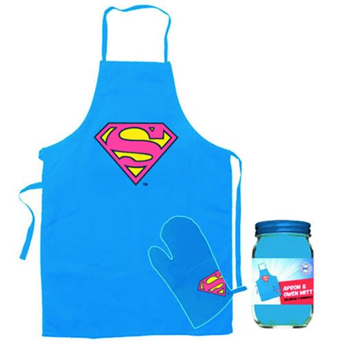 Superman Apron and Glove Set