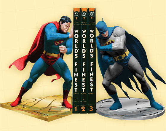 Superman Batman Bookends