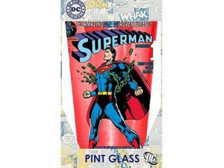 Superman Breaking Chains 16 oz. Pint Glass