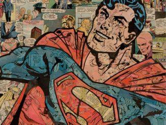 Superman Comic Collage Art