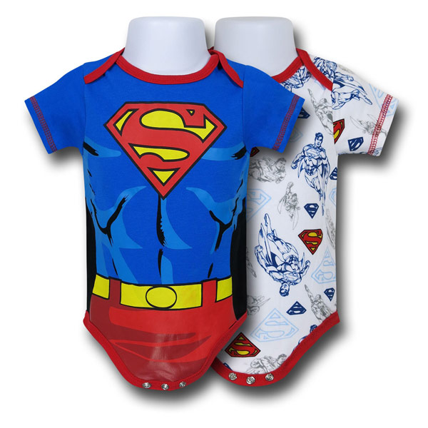 Superman Costume Infant Snapsuits