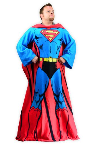 Superman Snuggy Fleece Blanket with Sleeves