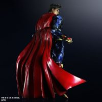 Superman DC Comics Play Arts Kai Variant Action Figure Rear View