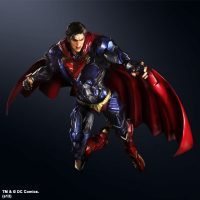 Superman DC Comics Play Arts Kai Variant Action Figure with Angry Face