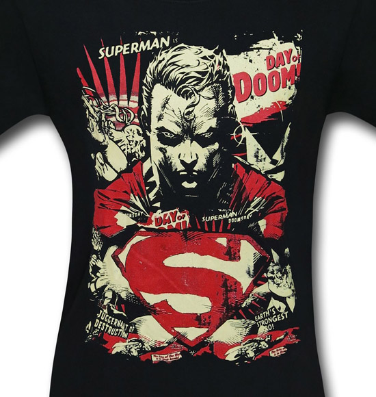Superman Day of Doom Mens Shirt