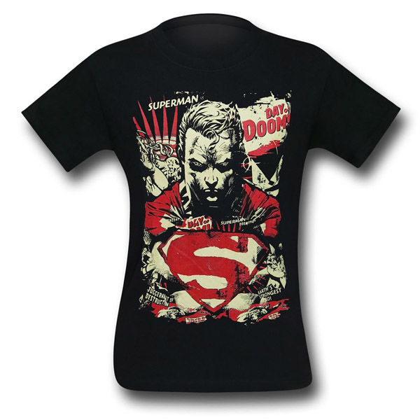 Superman Day of Doom Mens T-Shirt