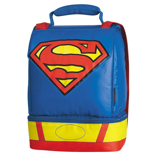 Superman Dual Compartment Thermos Lunch Box with Cape
