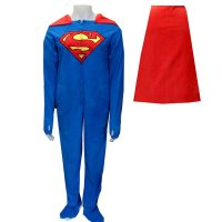 Superman Fleece Footie Pajama with Cape